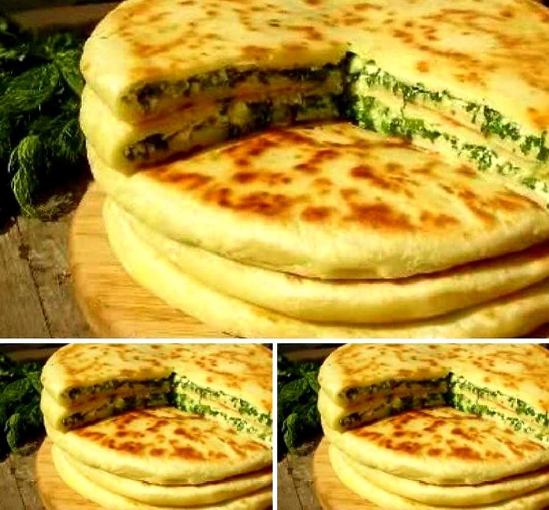Хачапурі з сиром і зеленню. Ну дууже смачно🤤
