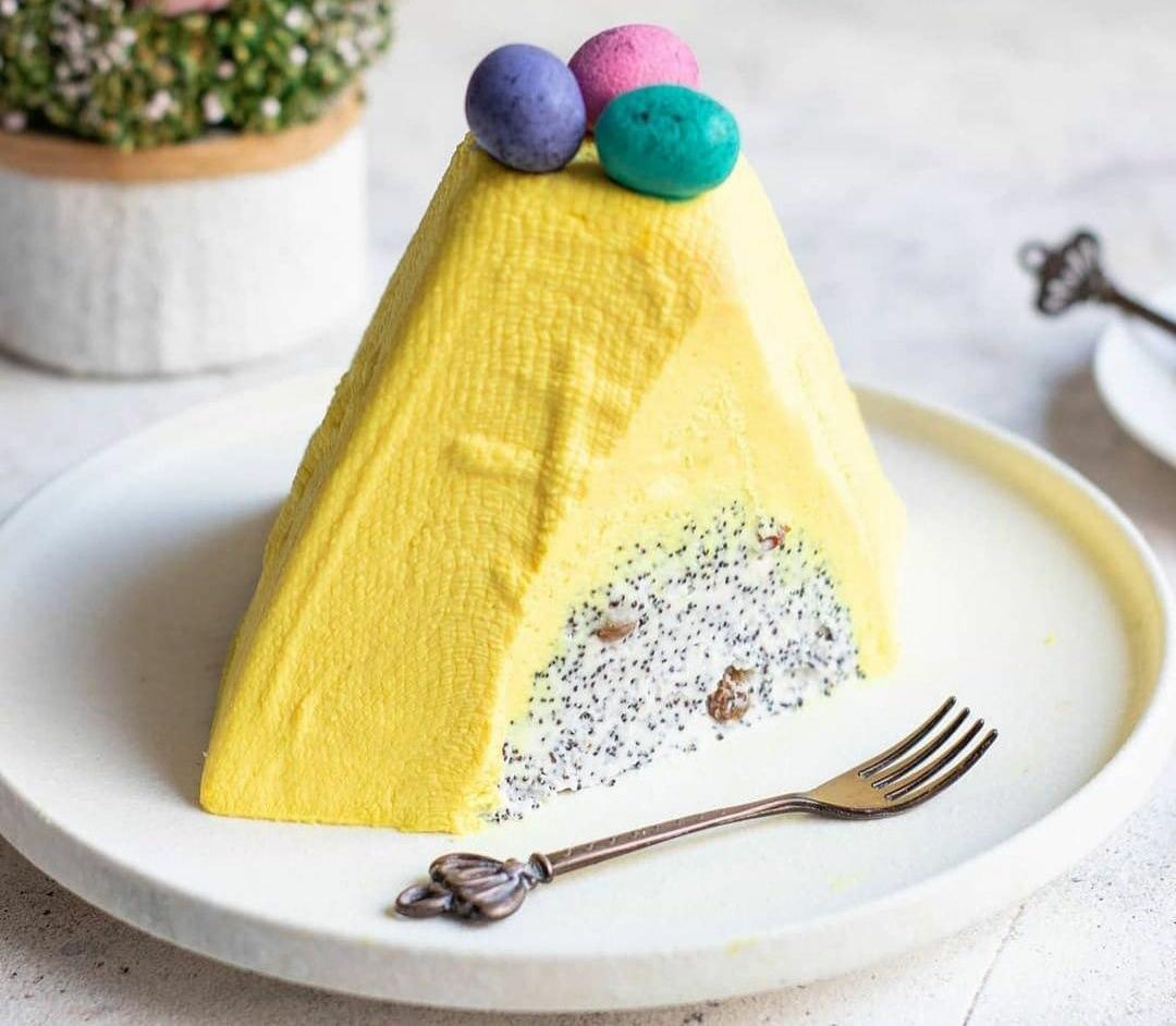 Рецепт приготування лимонно-макової сирної (творожної) Паски. Неймовірно ніжна та смачна!